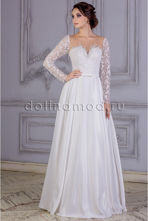 Wedding dress with sleeves Angelica MS-865