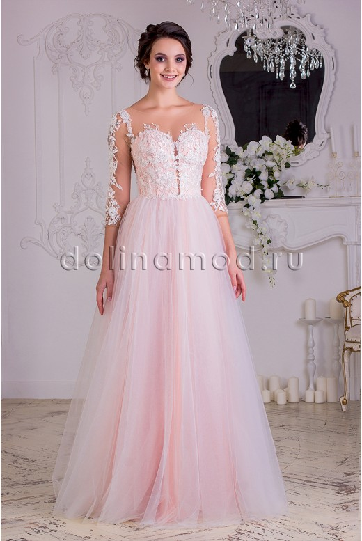 Prom dress with sleeves Beatrice VM-879