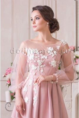 Evening dress with sleeves Leticija VM-894