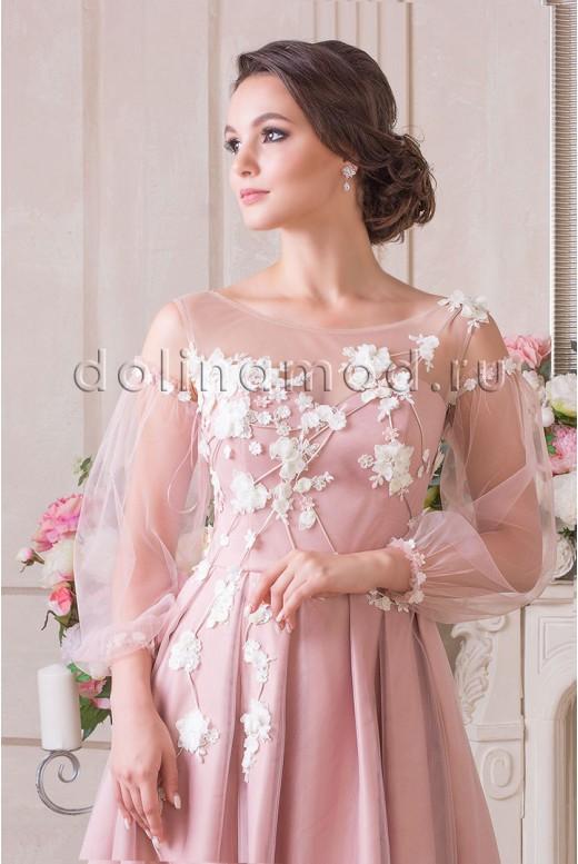 Evening dress with sleeves Leticija VM-894
