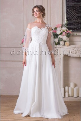 Wedding dress with sleeves Leticia MS-894