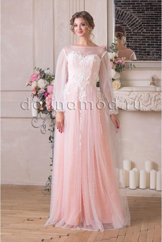 Вечернее платье с рукавами Dominika VM-904