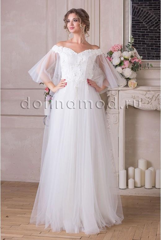 Wedding dress with sleeves Adelina MS-906