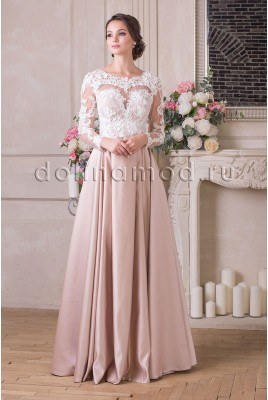 Evening dress with sleeves Vivian VM-909