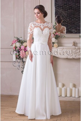 Wedding dress with sleeves Vivian MS-909
