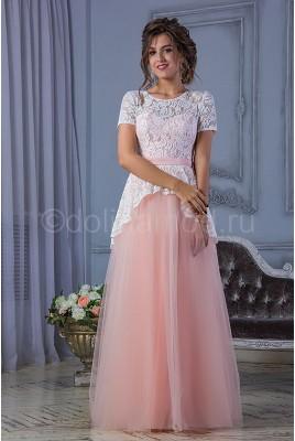 Выпускное платье с баской DM-806
