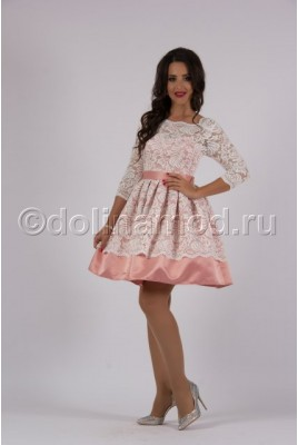 Короткое платье с рукавами DM-796