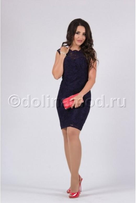 Коктейльное платье-футляр NINEL DM-819