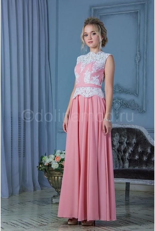 Выпускное платье с баской DM-781