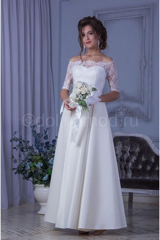 Свадебное платье с рукавами DM-805