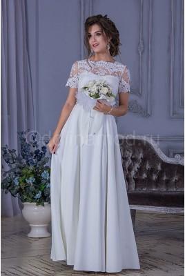 Свадебное свадебное платье с кружевными рукавами DM-789