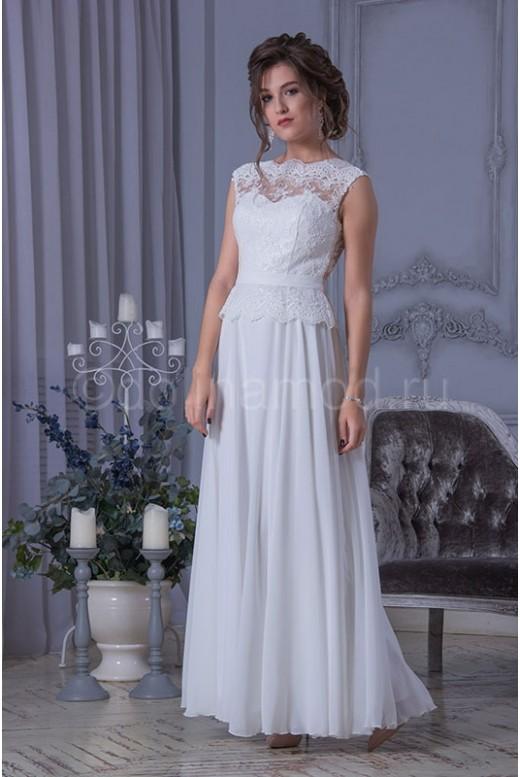 Свадебное платье с баской DM-781