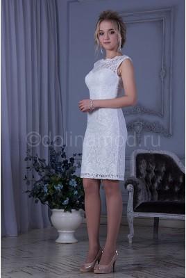Короткое свадебное платье футляр Ninel DM-819