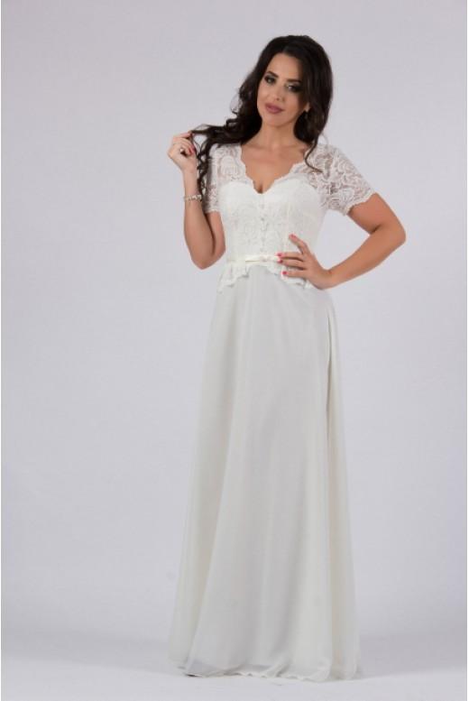 Свадебное платье с баской DM-802