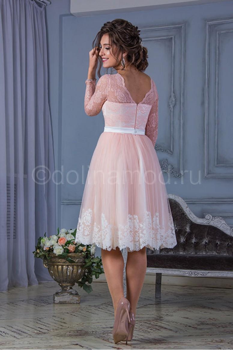 0c5de2da4c8 Купить короткое выпускное платье с рукавами DM-823 оптом от ...